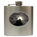 Gothic Mountain Setting Sun Hip Flask (6 oz)