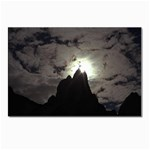 Gothic Mountain Setting Sun Postcard 5  x 7