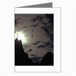 Gothic Mountain Setting Sun Greeting Card