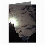 Gothic Mountain Setting Sun Greeting Cards (Pkg of 8)