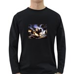 Gothic Unicorn Dark Storm Long Sleeve Dark T-Shirt