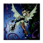 Purple Night Elf Fairy Tile Coaster