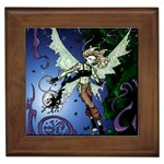 Purple Night Elf Fairy Framed Tile
