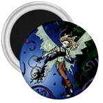 Purple Night Elf Fairy 3  Magnet