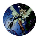 Purple Night Elf Fairy Ornament (Round)