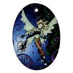 Purple Night Elf Fairy Ornament (Oval)