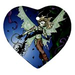 Purple Night Elf Fairy Ornament (Heart)