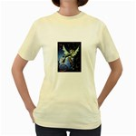 Purple Night Elf Fairy Women s Yellow T-Shirt
