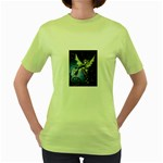 Purple Night Elf Fairy Women s Green T-Shirt