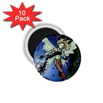 Purple Night Elf Fairy 1.75  Magnet (10 pack)