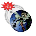 Purple Night Elf Fairy 2.25  Button (10 pack)