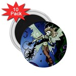 Purple Night Elf Fairy 2.25  Magnet (10 pack)