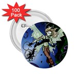 Purple Night Elf Fairy 2.25  Button (100 pack)