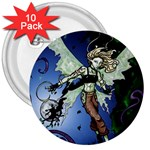 Purple Night Elf Fairy 3  Button (10 pack)
