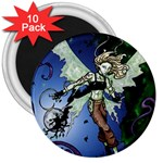 Purple Night Elf Fairy 3  Magnet (10 pack)