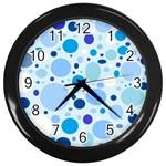 Bubbly Blues Wall Clock (Black)