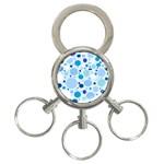 Bubbly Blues 3-Ring Key Chain