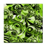 Retro Green Abstract Ceramic Tile