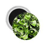 Retro Green Abstract 2.25  Button Magnet