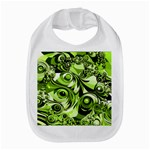 Retro Green Abstract Bib
