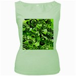 Retro Green Abstract Women s Tank Top (Green)
