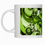 Retro Green Abstract White Coffee Mug
