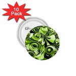 Retro Green Abstract 1.75  Button (10 pack)