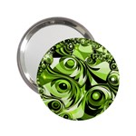Retro Green Abstract Handbag Mirror (2.25 )