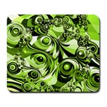 Retro Green Abstract Large Mouse Pad (Rectangle)