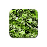 Retro Green Abstract Drink Coaster (Square)