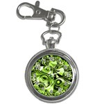 Retro Green Abstract Key Chain Watch