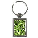 Retro Green Abstract Key Chain (Rectangle)