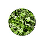 Retro Green Abstract Drink Coaster (Round)