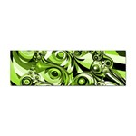 Retro Green Abstract Bumper Sticker