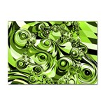 Retro Green Abstract A4 Sticker