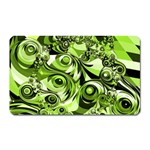Retro Green Abstract Magnet (Rectangular)