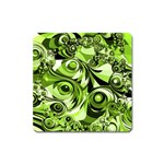 Retro Green Abstract Magnet (Square)
