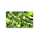 Retro Green Abstract Magnet (Name Card)