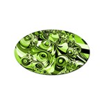 Retro Green Abstract Sticker 100 Pack (Oval)