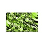 Retro Green Abstract Sticker 100 Pack (Rectangle)