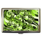 Retro Green Abstract Cigarette Money Case