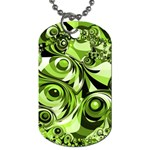 Retro Green Abstract Dog Tag (Two-sided)