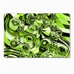 Retro Green Abstract Postcard 4  x 6