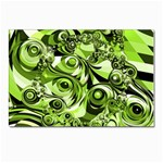 Retro Green Abstract Postcard 5  x 7