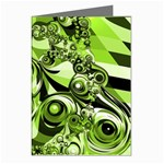 Retro Green Abstract Greeting Card (8 Pack)