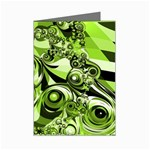 Retro Green Abstract Mini Greeting Card (8 Pack)