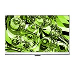 Retro Green Abstract Business Card Holder