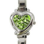 Retro Green Abstract Heart Italian Charm Watch