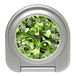 Retro Green Abstract Desk Alarm Clock