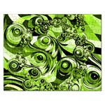 Retro Green Abstract Jigsaw Puzzle (Rectangle)